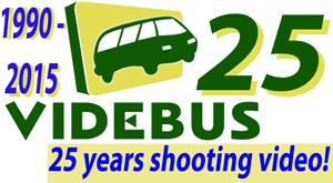 VideBus 25 years logo
